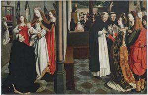 Scène uit de legende van de heilige Dominicus