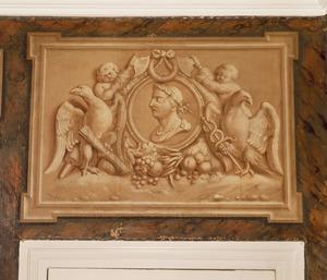 Medaillon met Fabius Maximus omgeven door twee putti en adelaars