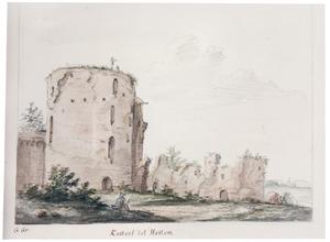 Ruïne van kasteel Sint Lucia ofwel de Dikke Tinne, opgenomen in de stadsmuur van Hattem