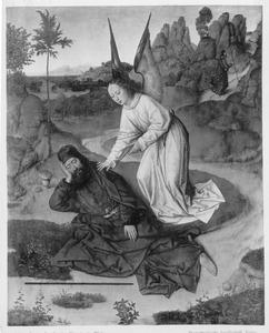 De profeet Elia gevoed door een engel op de berg Horeb (I Koningen 19:5-6) The prophet Elijah fed by the angel on Mount Horeb (I Kings 19:5-6)