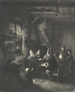 Vechtpartij in een herberg