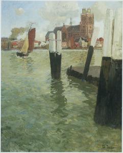 Steiger met gezicht op Dordrecht
