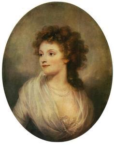 Portret van Charlotte Sophie von Leck, echtgenote van Gothard Andreas Graf Maunteuffel