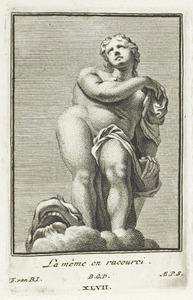 Galatea, in verkort perspectief (pl. XLVII)