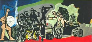 De oorlog, in de Temple de la Guerre et de la Paix