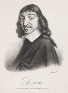 Portret van de Franse filosoof en wiskundige René Descartes (1596-1650)