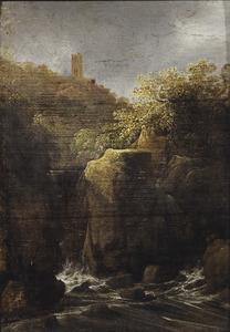 Rotslandschap met een waterval