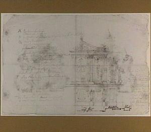 Ontwerp voor een gelegenheidsarchitectuur in de vorm van een tempelfront