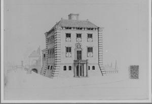 Rechter- en achterzijde van het nieuwe huis Gunterstein