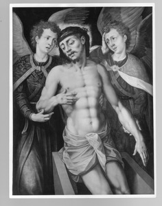 De graflegging van Christus met engelen (fragment?)