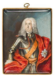 Portret van Albert Wolfgang von Lippe Schaumburg Buckeburg (1699-1748)