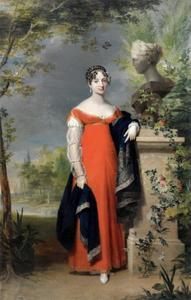 Portret van Anna Paulowna (1795-1865), grootvorstin van Rusland, als prinses van Oranje
