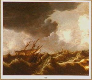 Schepen op een ontstuimige zee