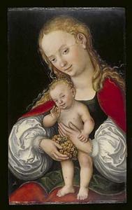 Maria met kind en een tros druiven