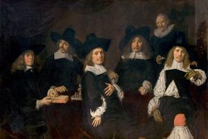 Groepsportret van de regenten van het oude Mannenhuis, Haarlem, 1664