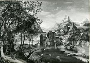 Landschap met de Emmaüsgangers (