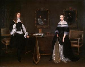 Dubbelportret van Albert Nilant (1646-...) en Johanna Quadacker (1640-1672)