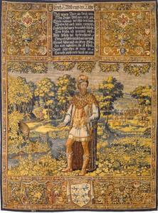 Erik VI (1216-1250) met een jagende wolf