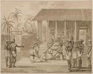 Jacob Haafner bezoekt de Jammedaar te Alamparvé in Ceylon