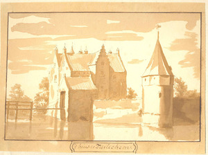 Gezicht op kasteel Zuilichem