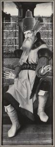 De H. Zacharias (op de buitenzijde in grisaille: de H. Bernardinus van Siena)