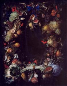 Krans van vruchten en groenten