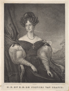 Portret van Anna Paulowna Romanov (1795-1865) als prinses van Oranje