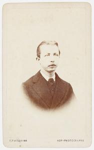 Portret van Willem Johan Theodoor Hora Siccama (1844-1901)
