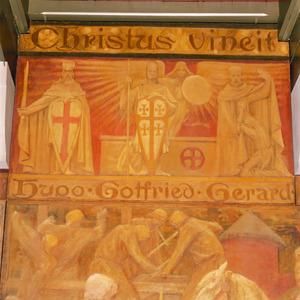 Hugo van Payens, Gotfried van Bouillon en Gerard de stichter van de Johanniterorde voor het Heilig Graf