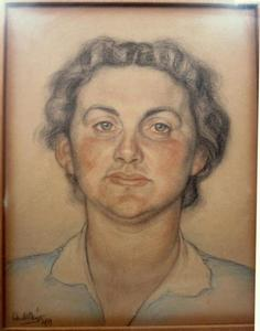 Portret van Liesbeth Kossmann (1895-1995)