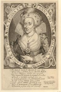 Portret van Anna van Denemarken (1574-1619), koningin van Engeland