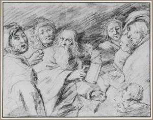Diogenes zoekt met zijn lantaren op klaarlichte dag een eerlijk mens