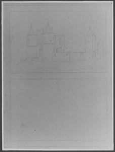Ruïne van kasteel Egmond gezien vanuit het noordoosten ca. 1616