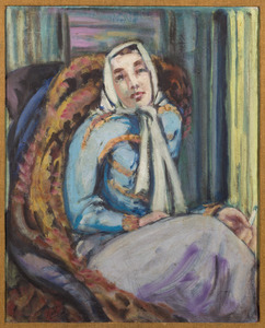 Amrey, Vrouw in lichtblauwe trui