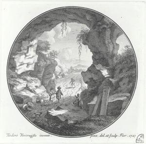 Figuren in een steengroeve