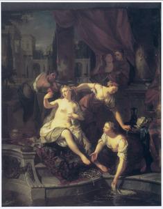 Batseba door David bespied tijdens haar toilet (2 Samuel 11:2-3)