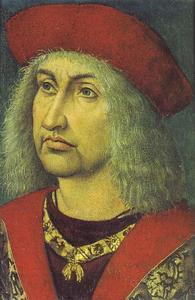Portret van Albrecht III 'de Kloekmoedige' van Saksen (1443-1500)