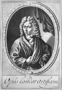 Zelfportret van de penschilder Adriaen van Salm (ca. 1660/'65-1720)