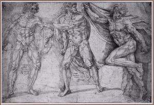 Drie naakte mannen