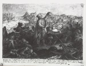 Amerigo Vespucci ontdekt het zuiderkruis (Astrolabium)