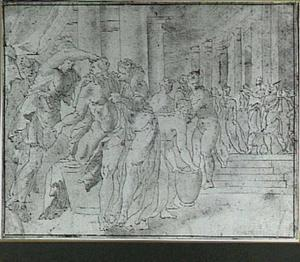 Athena leidt Penelope's aandacht af van Ulysses
