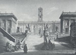 Het Senatorenpaleis op het Capitool te Rome