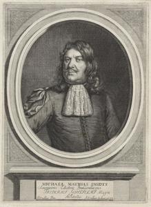 Portret van Michiel Mathijsz. Smids (1626-1692)