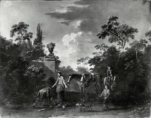 Jachtgezelschap in een park