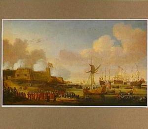 De aankomst van Catharina van Braganza in Portsmouth op 25 mei 1662