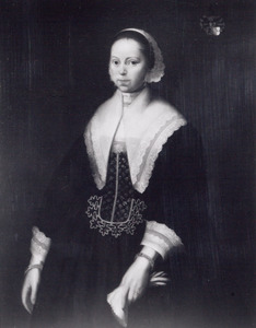 Portret van Meeuwertien Fockens (..-1645)