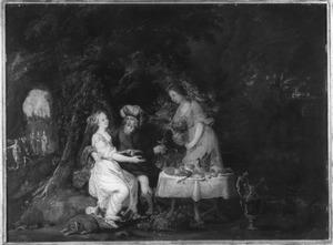 Lot wordt door zijn dochters dronken gemaakt (Genesis 19:30-38)