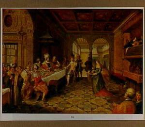 Salome biedt koning Herodes het hoofd van Johannes de Doper aan