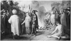 Tamar confronteert Juda met de ring, die hij haar gegeven heeft (Genesis 38:25)