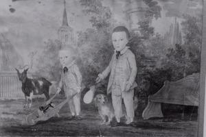 Dubbelportret van twee onbekende kinderen